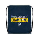 Navy Drawstring Backpack-2018 Mens Golf Champions - Box