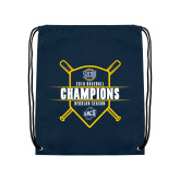 Navy Drawstring Backpack-2018 Baseball Regular Season Champions