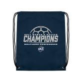 Navy Drawstring Backpack-2017 Womens Soccer Champions