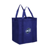 Non Woven Navy Grocery Tote-UNCG Shield