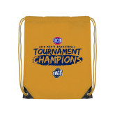 Gold Drawstring Backpack-2018 Mens Basketball Champions - Brush