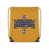 Gold Drawstring Backpack-2018 Mens Basketball Champions - Stacked