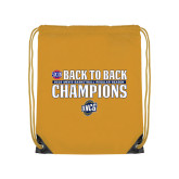 Gold Drawstring Backpack-2018 Back to Back Regular Season Champions