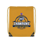 Nylon Gold Drawstring Backpack-2017 SoCon Regular Season Basketball Champions - Banner