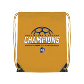 Gold Drawstring Backpack-2017 Womens Soccer Champions