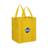 Non Woven Gold Grocery Tote-UNCG Shield