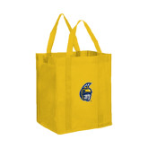 Non Woven Gold Grocery Tote-Spartan Head