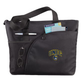 Excel Black Sport Utility Tote-Arched UNCG w/Spartan