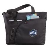 Excel Black Sport Utility Tote-UNCG Shield