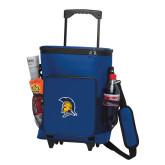 30 Can Blue Rolling Cooler Bag-Spartan Logo
