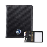 Carbon Fiber Tech Padfolio-UNCG Shield