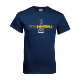 Navy T Shirt-Basketball Net Design