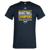 Navy T Shirt-2017 SoCon Regular Season Basketball Champions - Stacked