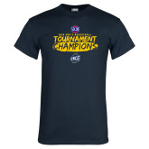 Navy T Shirt-2018 Mens Basketball Champions - Brush