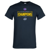 Navy T Shirt-2018 Mens Basketball Champions - Box