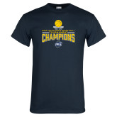 Navy T Shirt-2018 Mens Basketball Champions - Net w/ Basketball