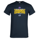 Navy T Shirt-2018 Mens Basketball Champions - Stacked