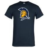 Navy T Shirt-Spartan Logo