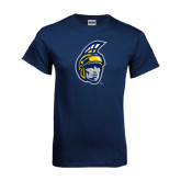 Navy T Shirt-Spartan Head
