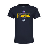 Youth Navy T Shirt-2018 Mens Basketball Champions - Box