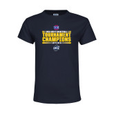Youth Navy T Shirt-2018 Mens Basketball Champions - Stacked