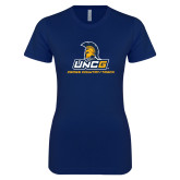 Next Level Ladies SoftStyle Junior Fitted Navy Tee-Track