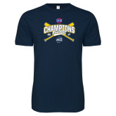 Next Level SoftStyle Navy T Shirt-Baseball SoCon Champions 2017 - Crossed Sticks