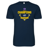 Next Level SoftStyle Navy T Shirt-Baseball SoCon Champions 2017 - Diamond