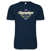 Next Level SoftStyle Navy T Shirt-Baseball SoCon Champions 2017 - Banner w/ Plate