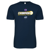 Next Level SoftStyle Navy T Shirt-Baseball SoCon Champions 2017 - Ball in Motion