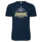 Next Level SoftStyle Navy T Shirt-2017 SoCon Regular Season Basketball Champions - Banner