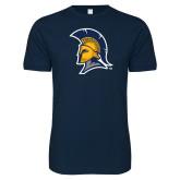 Next Level SoftStyle Navy T Shirt-Spartan Logo