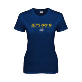 Ladies Navy T Shirt-Lets Go G
