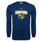 Navy Long Sleeve T Shirt-2015 Regular Season Mens Soccer Champs