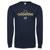 Navy Long Sleeve T Shirt-2018 Mens Golf Champions