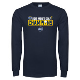 Navy Long Sleeve T Shirt-2018 Mens Golf Champions - Box