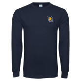 Navy Long Sleeve T Shirt-Spartan Logo