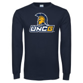 Navy Long Sleeve T Shirt-Lock Up