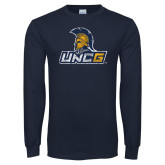 Navy Long Sleeve T Shirt-Official Artwork Distressed 1