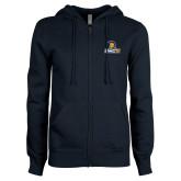 ENZA Ladies Navy Fleece Full Zip Hoodie-Lock Up