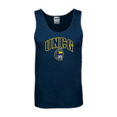 Navy Tank Top-Arched UNCG w/Spartan