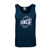 Navy Tank Top-UNCG Shield