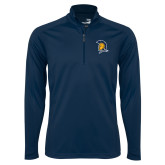 Syntrel Navy Interlock 1/4 Zip-Spartan Logo