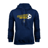 Navy Fleece Hoodie-Soccer Ball Design
