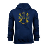 Navy Fleece Hoodie-Basball Ball Design