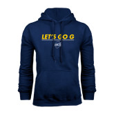 Navy Fleece Hood-Lets Go G