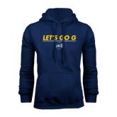 Navy Fleece Hoodie-Lets Go G