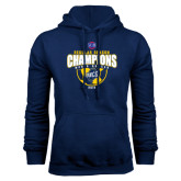 Navy Fleece Hood-2015 Regular Season Mens Soccer Champs