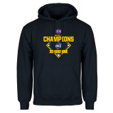 Navy Fleece Hoodie-Baseball SoCon Champions 2017 - Diamond