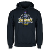 Navy Fleece Hoodie-2017 SoCon Regular Season Basketball Champions - Banner